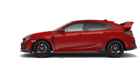 Sidovy av Honda Civic Type R.